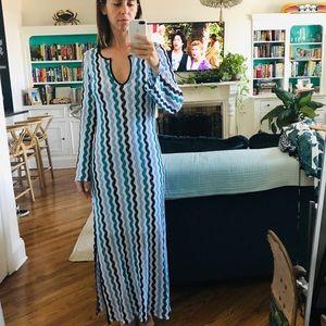 Calypso crochet maxi dress with optional key hole